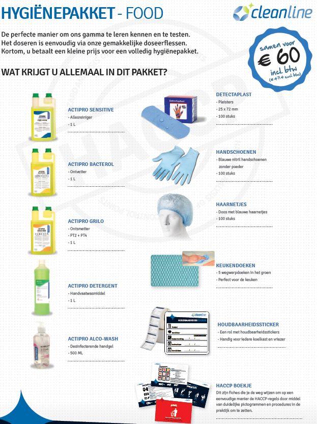 ACTIPRO hygiene kit food
