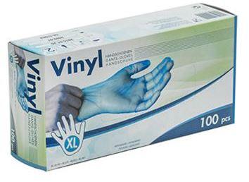 CLEANLINE wegwerphandsch.vinyl blauw