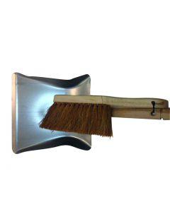 CLEANLINE blik metaal + handborstel hout