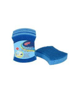 CLEANLINE schuurspons blauw harde pad