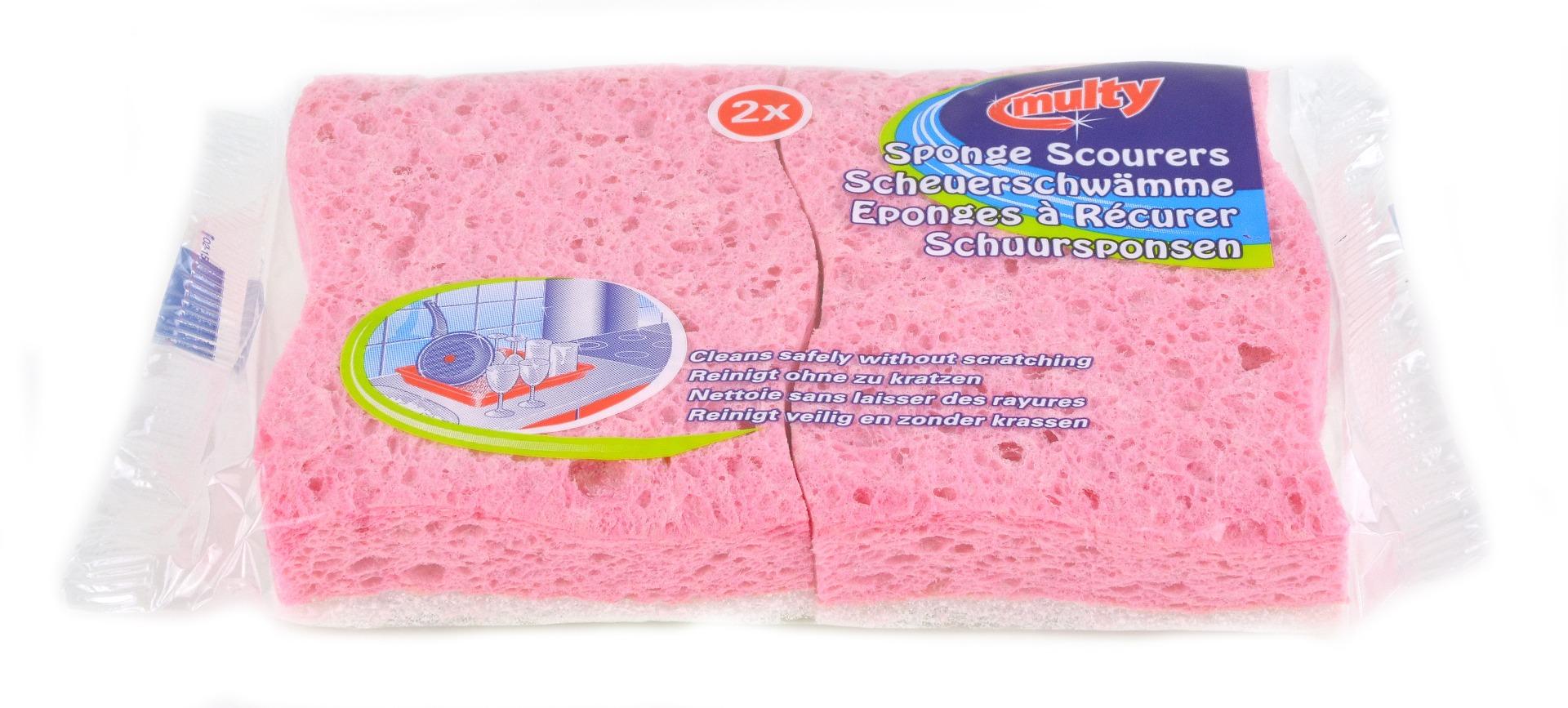 CLEANLINE schuurspons rose zachte pad