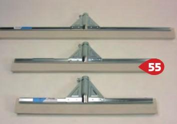 CLEANLINE vloerwisser metaal wit