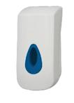 Handzeepdisp. pouchsoap - blauw venster