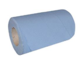 MINI ROLL -Recycled Blue 1ply 20cm-120m
