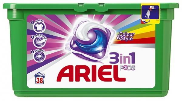 PG Ariel colour tabs 3 in 1 waspoeder