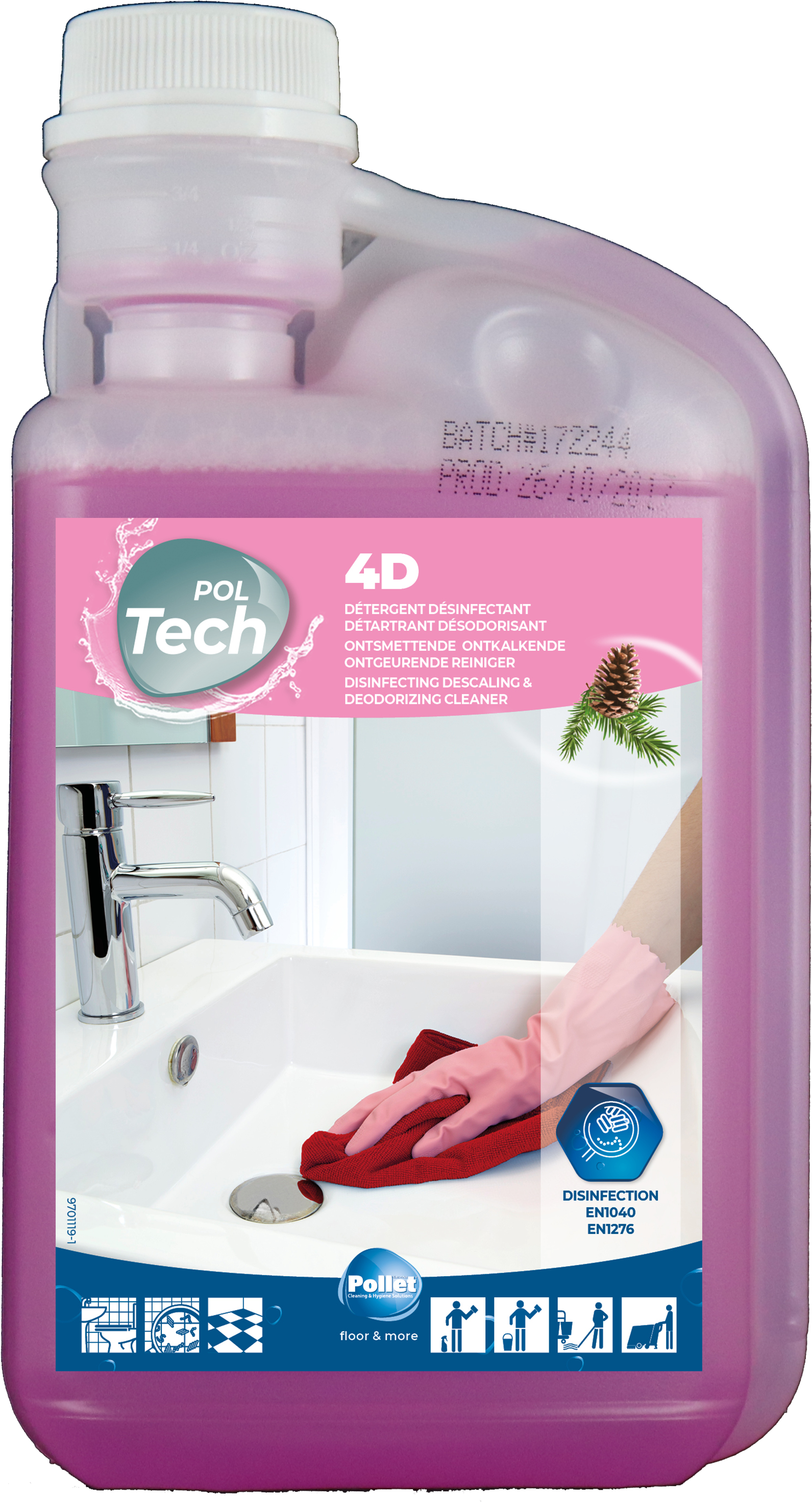 POLTECH 4D krachtige ontkalkende deterg.