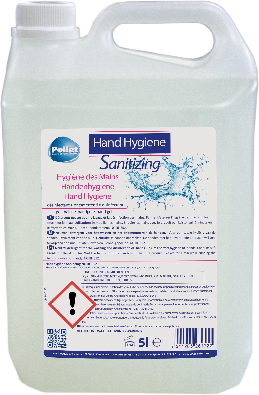 POLLET hand hygiene sanitizing