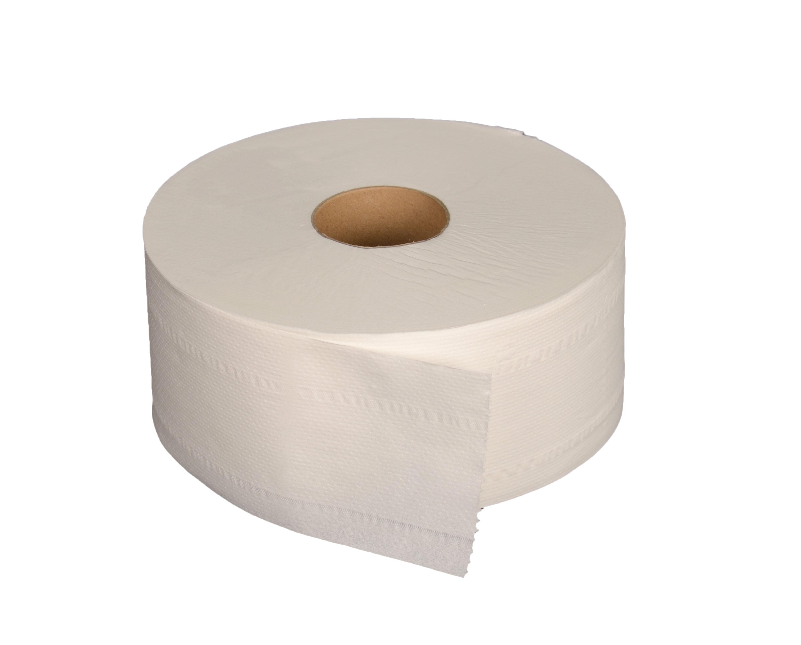 Toiletpapier wit, 2-laags, midi jumbo