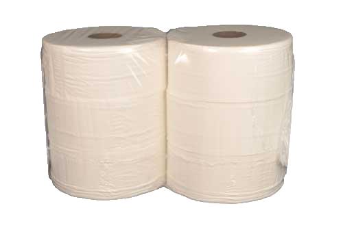 Toiletpapier recyclé 2-laags, wit motief