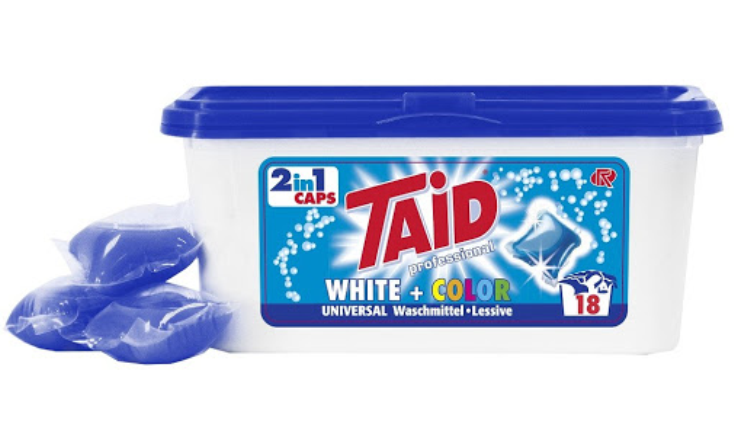 TAID white-color tabs 2 in 1 waspoeder
